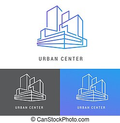 Real estate logo, building development, icon and element
