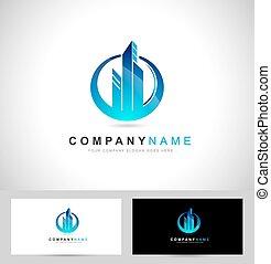 Real Estate Logo - Corporate blue Concept Real estate logo....