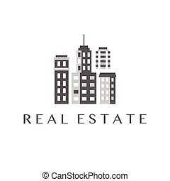 Real Estate Logo Design, Commercial Property Logotype...