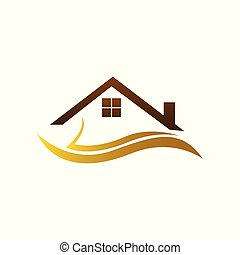 Real estate logo, home logo, house logo, simple design, vector icons.