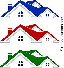 real estate logo house vector