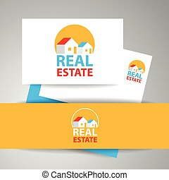 real estate logo identity