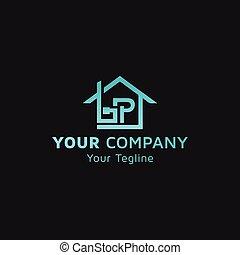 Real estate logo image with letter BP icon, idea of logo design