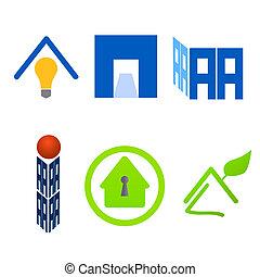 Real estate logo material set