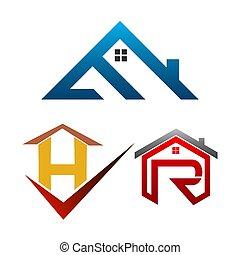 Real Estate Logo set. Building and Construction collection Logo Vector Design