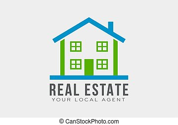 Real Estate Logo Template. Vector Design