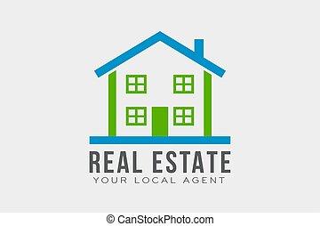 Real Estate Logo Template. Vector Design