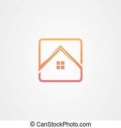 Real estate logo vector design