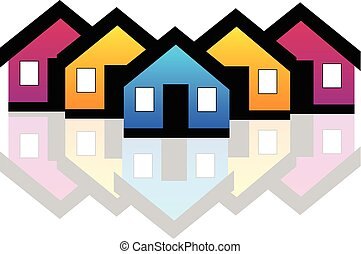 Real estate logo - Vector Houses real estate condos logo...