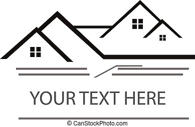 Real estate logo vector illustration.