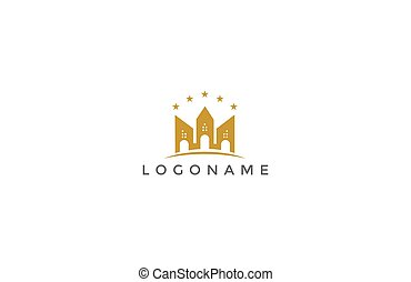 Real estate logo vector with ...