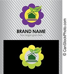 Real Estate logo with flower icon