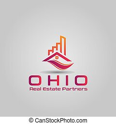 Real estate management fund modern logo design.