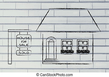 real estate market, funny house sold