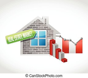 real estate market illustration design