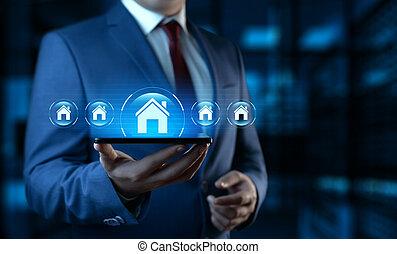 Real Estate Mortgage Property Management Rent Buy concept.