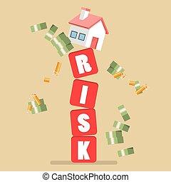 Real estate on shaky risk blocks