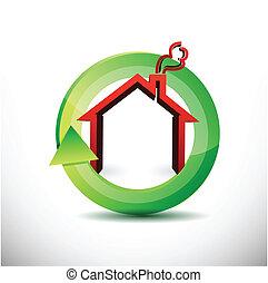 real estate on the move icon illustration design over white