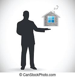 real estate presentation. home for sale concept