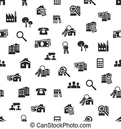 real estate seamless pattern