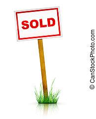For sale - Real Estate Sign – For sale. 2D artwork....