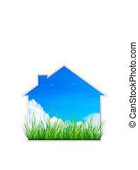 Real Estate Sign. 2D artwork. Computer Design.