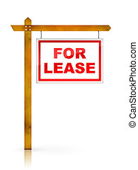 For Lease - Real Estate Sign - For Lease. 2D artwork....