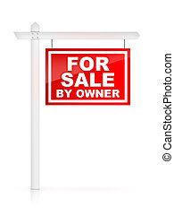 For Sale by Owner - Real Estate Sign – For Sale by Owner. 2D...