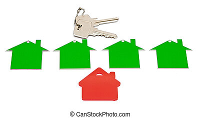 real estate sign isolated on white background.