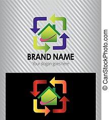 Real estate sign logo icon design