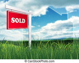 Real Estate Sign - Sold