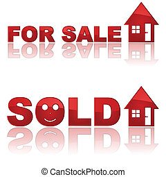 Real Estate signs - Set of two glossy real estate signs ...