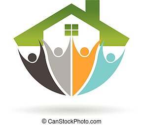 Real Estate Social Network logo. Vector graphic design