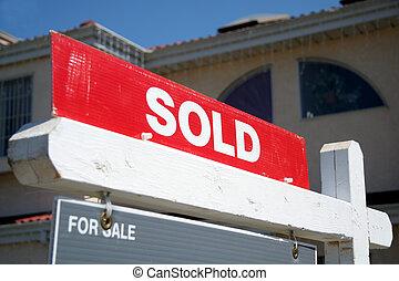 sold sign - Real Estate sold sign