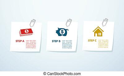 Real estate steps concept design