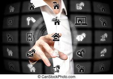 Real estate services offered at a finger tip