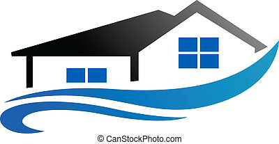 Real estate symbol - House with roof as a real estate ...