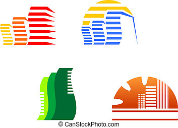 Real estate symbols for design and decorate