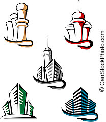 Real estate symbols for design and decorate
