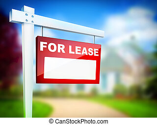 For Lease - Real Estate Tablet - For Lease. 2D artwork....