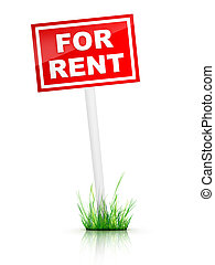 For Rent - Real Estate Tablet - For Rent. 2D Artwork....