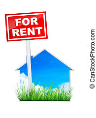 For Rent - Real Estate Tablet - For Rent. 2D Artwork....