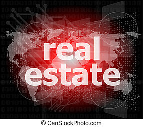 real estate text on touch screen