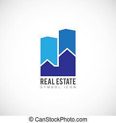 Real Estate Vector Concept Symbol Icon or Logo Template