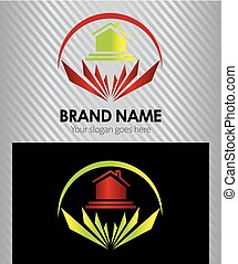 Real estate vector logo design temp