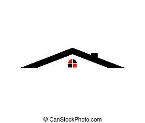Real Estate vector logo design template, House abstract concept icon