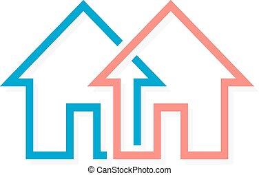 Real estate vector logo or icon