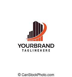 Real estate - vector logo template concept illustration. Building skyscraper Design element.