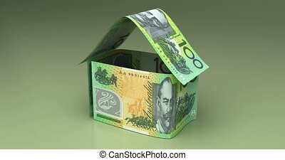 Real Estate with Australian Dollar - Real Estate Animation...