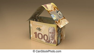 Real Estate with Canadian Dollar - Real Estate Animation...
